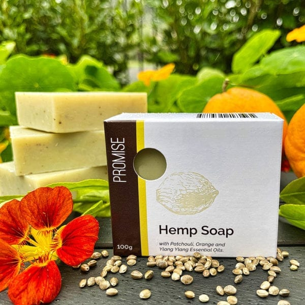 Promise Hemp and Patchouli Soap with Essential Oils (100g)